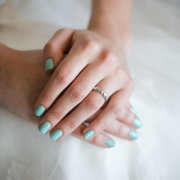 engagement ring, nails
