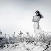 beach, dress, hair