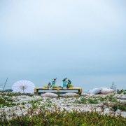 beach, parasol