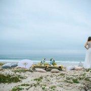 beach, dress, parasol