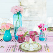 decor, flowers, table setting