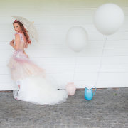 dress, parasol, balloon