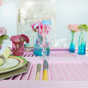 flowers, table setting