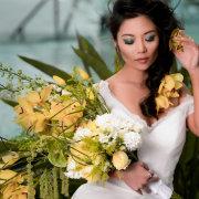 bouquet, flowers, hair