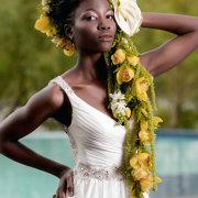 dress, flowers, hair