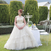 decor, garden, wedding dress