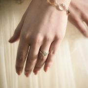 bracelet, engagement ring, nails
