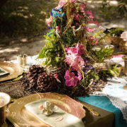 decor, flowers, forest, table