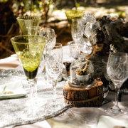 glassware, table