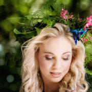 forest, hairstyle, headpiece, makeup