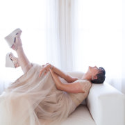 shoes, wedding dress