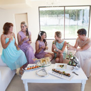 bridesmaid dress, canapes, food, snacks