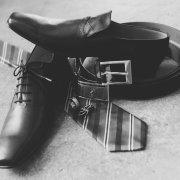 shoes, tie, belt