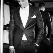 suit, tie