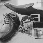 belt, cuff link, shoes, tie