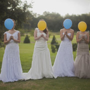 balloon, wedding dress
