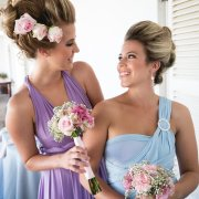 bouquet, bridesmaid dress, flowers, hairstyle