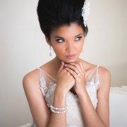 bracelet, earrings, engagement ring, hairstyle, headpiece, makeup
