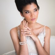 bracelet, engagement ring, hairstyle, makeup
