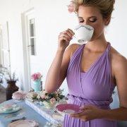 bridesmaid dress, hairstyle