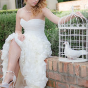 doves, hairstyle, shoes, wedding dress
