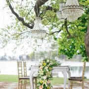 chandelier, decor, table