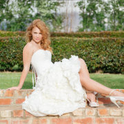 hairstyle, shoes, wedding dress