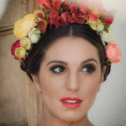 headpiece, makeup