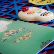 biscuits, invitation, stationery