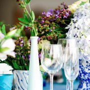 flowers, glassware