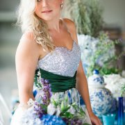 flowers, hairstyle, makeup, wedding dress