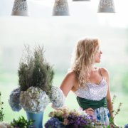 flowers, wedding dress