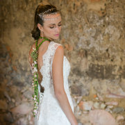 headpiece, wedding dress
