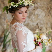 headpiece, wedding dress, makeup