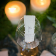 candles, name cards