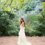 forest, wedding dress