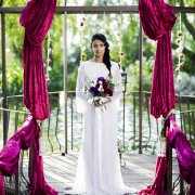 bouquet, arch, decor, dress
