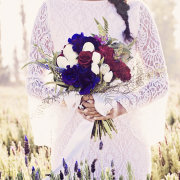 bouquet, wedding dress, dress