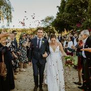 bride and groom, bride and groom, confetti, wedding dress, wedding dress, wedding dress