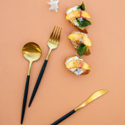 canapes, cutlery