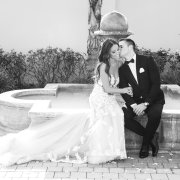 bride and groom, bride and groom, bride and groom, fountain