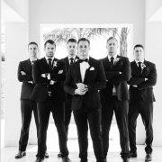 groom and groomsmen, black & white photography