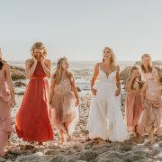bride, bridesmaids, bridesmaids, flower grils