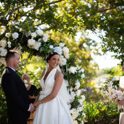 bride and groom, bride and groom, bride and groom, ceremony, floral arches