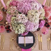 floral decor, place setings