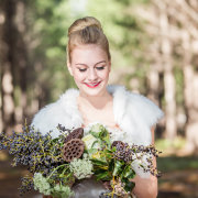 bouquet, hair, makeup
