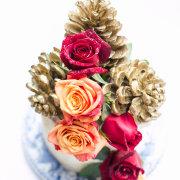 cake, flowers