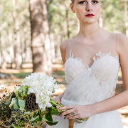 bouquet, dress, makeup