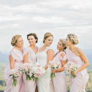 bouquet, bridesmaid, hair