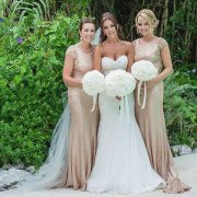bouquet, bridesmaid, wedding dress